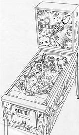 Pinball Machine Drawing Layout Pen Behance Pages Artwork Sketch Coloring Pencil Template Rough Illustration Isograph Rotring sketch template