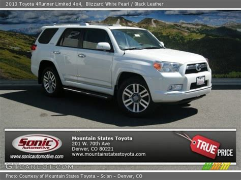 blizzard white pearl 2013 toyota 4runner limited 4x4