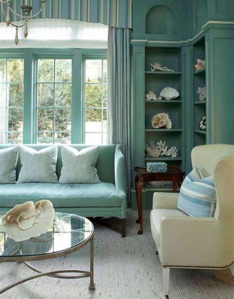 Turquoise Blue Living Room Cottage Living Room Decor