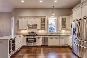 kitchen remodeling shaker white painted wood cabinets 1231