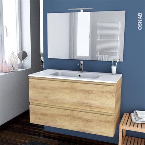 renovation cuisine rustique ensemble salle de bains meuble ipoma bois plan vasque résine miroir et éclairage l100 5 x h58 5