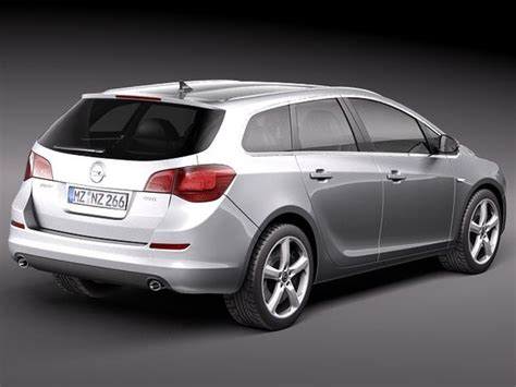 Opel Astra Estate by 3d Opel Astra Touring Estate Model
