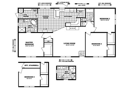 Clayton Home Floor Plans by Manufactured Home Floor Plan 2006 Clayton Sold