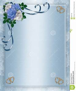 Formal Party Invitation Template Wedding Party Invitation Blue Roses Stock Illustration