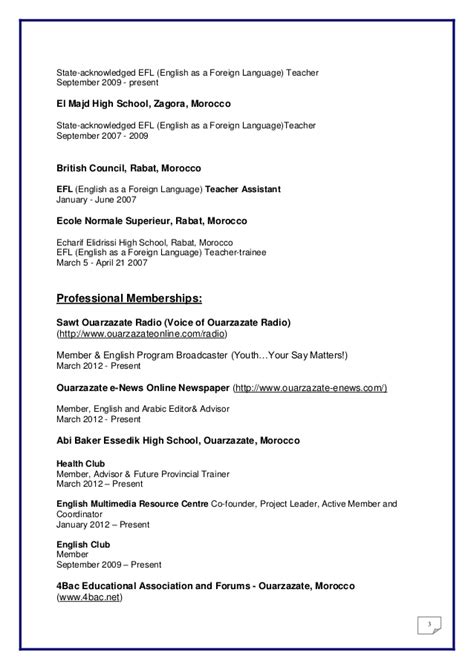 sle resume for foreign language teachers