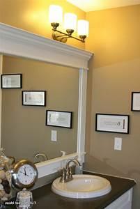 Framing bathroom mirror with moulding frame tile molding for Molding around mirror bathroom