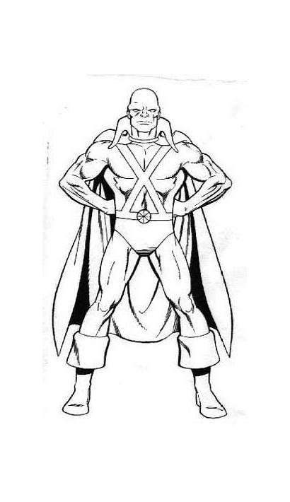 Manhunter Martian Coloring Dc Comics Super Powers