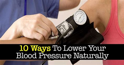 10 Ways To Lower Your Blood Pressure Naturally