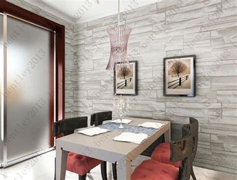 hot chinese style dining room  wallpaper stone brick
