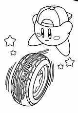 Coloring Rolling Kirby Tire Pages 87kb 874px sketch template