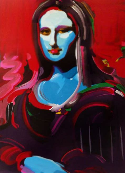 Mona Lisa By Peter Max Serigraph 40 X 32 102 X 81 Cm