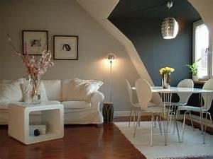Graue Wand Wohnzimmer : wei e und graue w nde wohnung streichen wohnzimmer streichen 106 inspirierende ideen ~ Indierocktalk.com Haus und Dekorationen