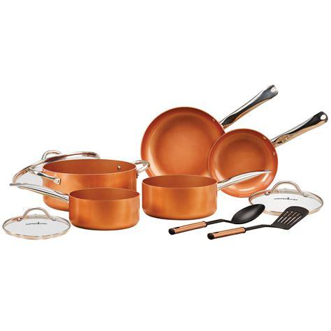 pro copper cooking set pots pans restaurant nonstick kitchen cook cookware   ebay