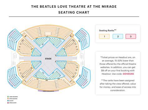 mirage love seating chart vegas brokeasshomecom