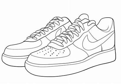 Nike Pages Sneaker Colouring Adults Ecolorings Info
