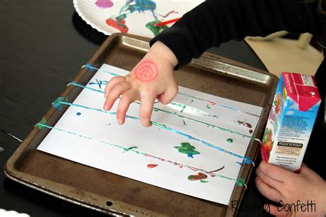 rubber band painting reading confetti 214 | rubber band 5