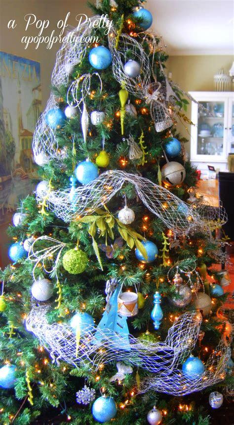 turquoise christmas tree decorations  pop  pretty