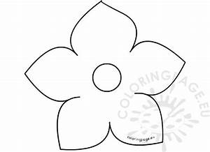 printable five petal flower template coloring page With flower template 5 petals