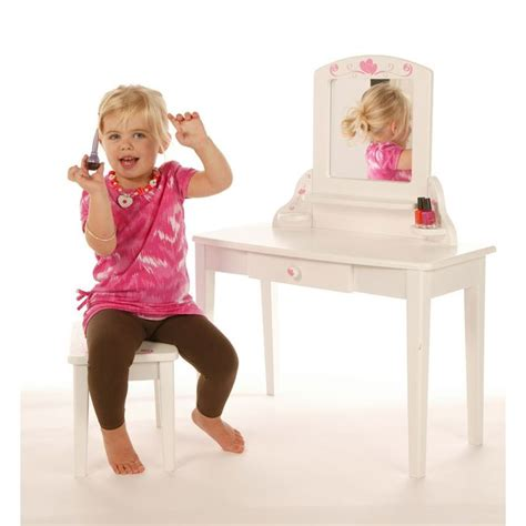 girls white vanity table pintoy vanity unit white heart girls dressing table
