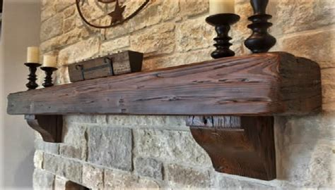 Fireplace Mantel Corbels by Rustic Walnut Reclaimed Wood Mantel