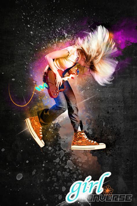 girl converse design photoshop cool backgrounds  behance