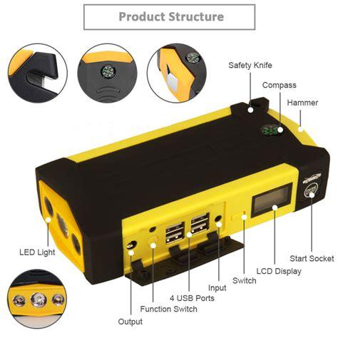 emergency super capacitor battery booster car jump starter