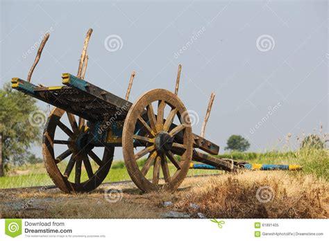 indian cart bullock cart near a paddy field stock image image 61891405