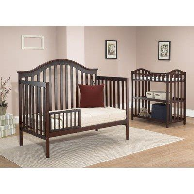 crib changing table set sorelle lynn 4 in 1 convertible crib w changing table