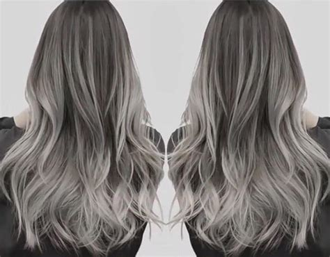 Silver Ombre Hair, Grey Dyed Hair And Ash Grey Modern Guy Haircuts Young Justin Bieber Haircut Cool Mens 2017 Really Bad Jay Mcguiness Chrissy Teigen New Terminology Womens For Long Hair