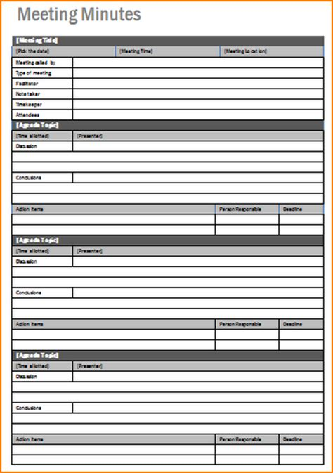 meeting notes template teknoswitch