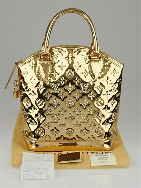 louis vuitton limited edition gold monogram miroir lockit bag yoogis closet