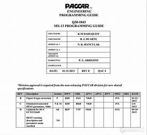 Paccar - Mx13 Programming Guide