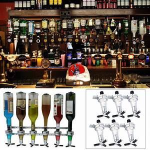 Alkohol Bar Für Zuhause : wandhalterung 6 fach flaschenspender getr nke bar butler wein dispenser party ebay ~ Markanthonyermac.com Haus und Dekorationen