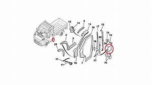 Fiat Ducato Peugeot Boxer Citroen Relay Left Side Plastic Trim Strip 735432335