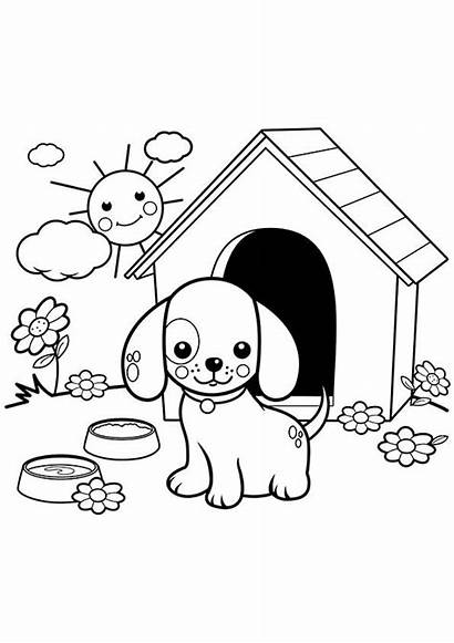 Coloring Pages Puppy Printable Puppies Dog Dogs