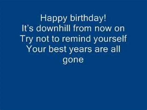 arrogant worms  happy happy birthday song lyrics