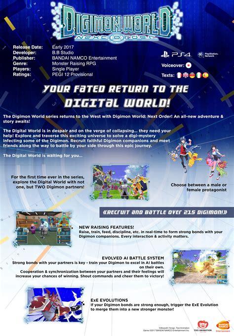 Digimon World Next Order Fact Sheet