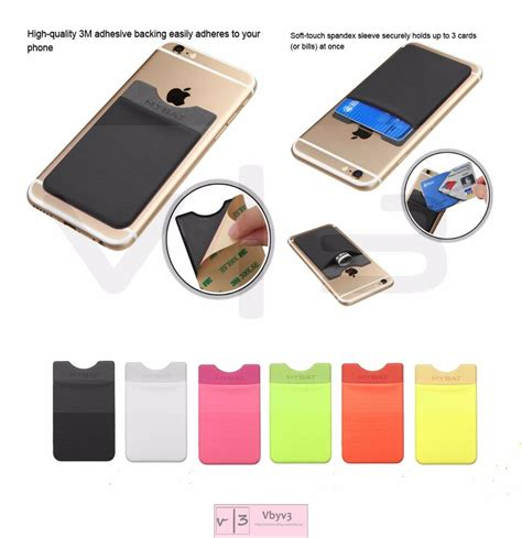 8.8x5.8cm universal compatibility slim comfort, strong elasticity package includes: 3M Adhesive Card Pouch Sticker Credit Card Holder Sleeve Cover Universal Phone   eBay