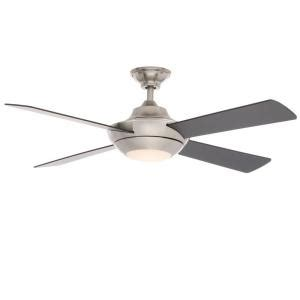 petersford 52 in led brushed nickel ceiling fan home decorators collection moonlight ii led 52 in brushed