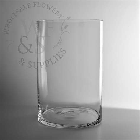 Cylinder Vases by 12 Quot X 8 Quot Glass Cylinder Vase Wholesale Flowers And Supplies