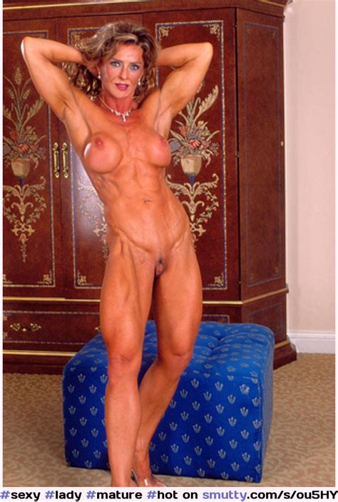 Sexy Lady Mature Hot Muscle Shaved Pussy