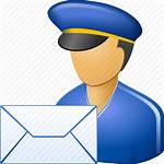 Icon Postman Mail Svg Clipart Cartoon Carrier