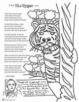 Coloring Tyger Blake William Poem Pages Poems Calvin Hobbes Teaching English Tools Tweetspeakpoetry Topics sketch template