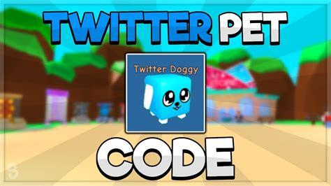 twitter pet code bubble gum simulator  youtube