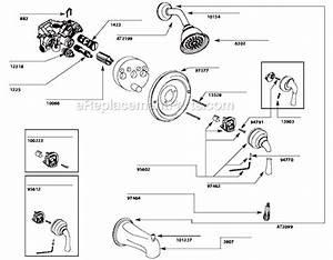 Moen T3124 Parts List And Diagram   Ereplacementparts Com