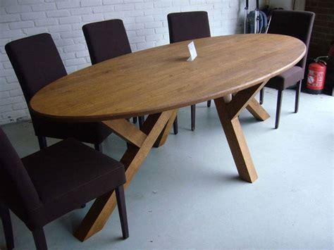 bureau bo concept ovale tafel eiken schuine poot te boveldt meubelmakerij