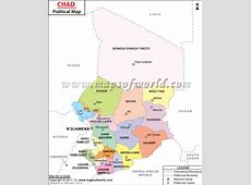 Political Map of Chad Chad Regions Map