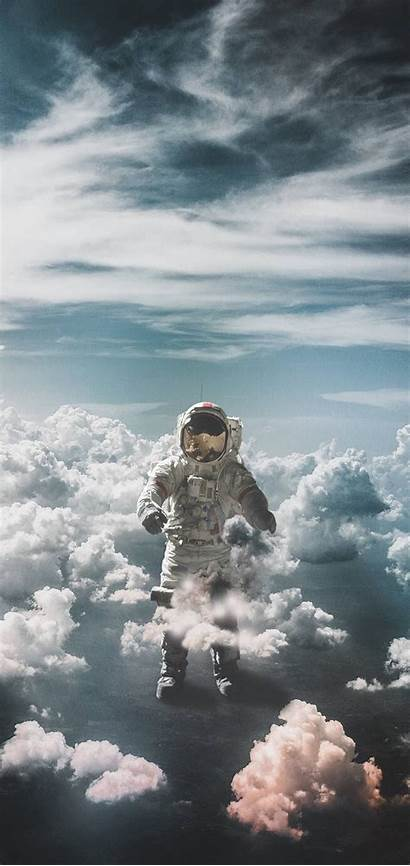 Clouds Astronaut Space Wallpapers Suit Iphone 1440