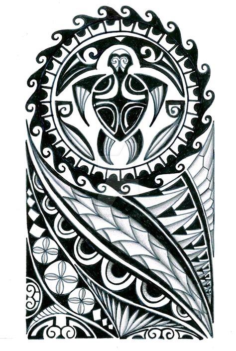 polynesian  sleeve tattoo design  thehoundofulster