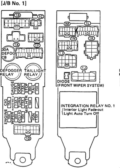 91 Toyotum Camry Fuse Diagram by On My 1989 Toyota Camry 4dr Deluxe Sedan The Brake Lights